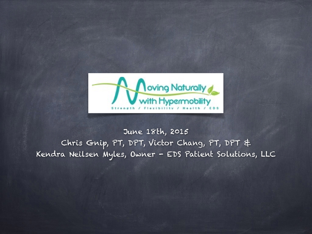 Moving Naturally with Hypermobility seminar